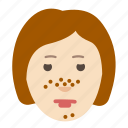 clogged, cosmetology, face, health, pores, problem, skin icon