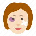 bruise, cosmetology, face, health, injury, problem, skin icon