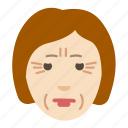 age, cosmetology, face, problem, skin, woman, wrinkels icon