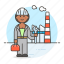 builder, engineer, factory, female, industry, plant, production, worker icon