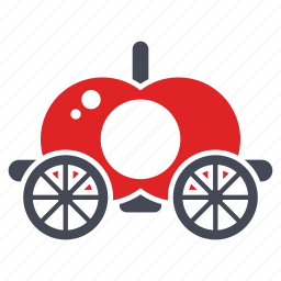 carriage, fairy tale, fantasy, horse carriage, royal buggy, royal car icon