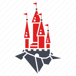 bastion, building, castle, fairy tale, fantasy, tower icon