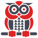 animal, bird, fairy tale, fantasy, fear, owl icon