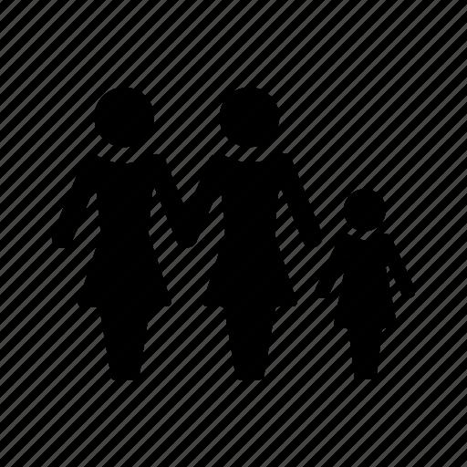child, family, gay, girl, lesbain icon