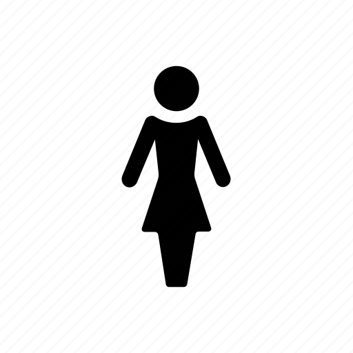 girl, lady, person, profile, single, woman icon