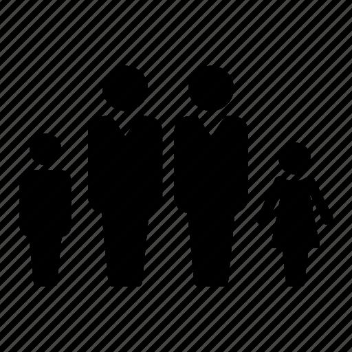 childen, family, gay, same sex icon