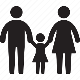child, family, father, girl, kid, mother, parent icon