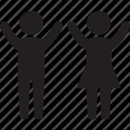 boy, childhood, childs, family, female, girl, kids icon