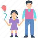 balloon, child love, father love, play time, single parent icon