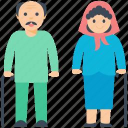 couple goals, grandparents, old age, old couple, parents icon