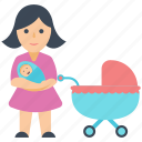 child, mother, motherlove, newborn, parent love icon
