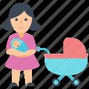 child, mother, motherlove, newborn, parent love icon
