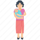 infant, mother, mother care, newborn, single parent icon