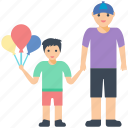 child, father son, funtime, parent, parent love icon