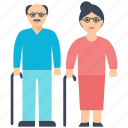 couple goals, grandparents, old couple, parents, together icon