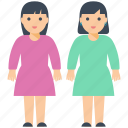 daughters, girls, happy sisters, sister, sister love icon