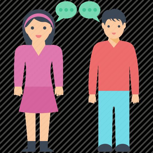 couple goals, happy couple, husband wife, love talk, talking icon