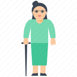 aged mother, grand mother, middle age, old age, women icon icon