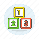 baby, blocks, building, cube, family, learning, number, shape, toy icon
