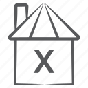 barn, countryside, cowshed, hut, shed icon
