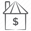 home value, house payment, house price, property value, real estate icon