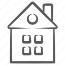 accommodation, home, dwelling, building, house, residence icon