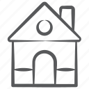 accommodation, building, dwelling, home, homestead, house, hut icon