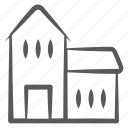 accommodation, building, commercial building, dwelling, factory, homestead, hotel icon