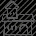 accommodation, auditorium, city hall, commercial building, sanatorium icon