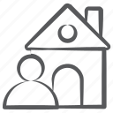 estate agent, home owner, person, property dealer, real estate, realtor icon