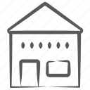 accommodation, homestead, home, building, house, residence icon