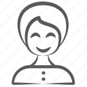 avatar, female, girl, lady, person, wife, woman icon