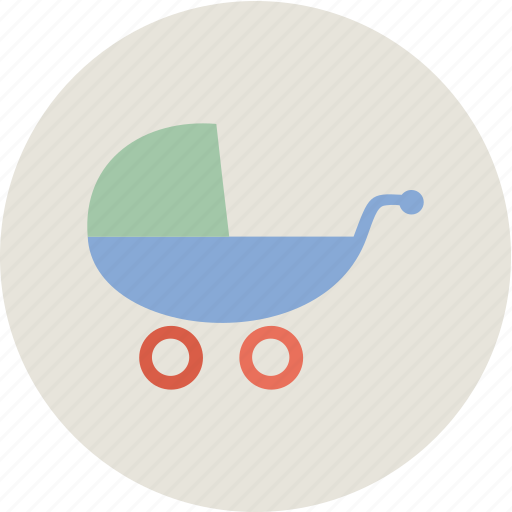 baby, baby carriage, child, family icon