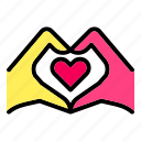 family, hand, heart, love, romance, valentine, wedding icon