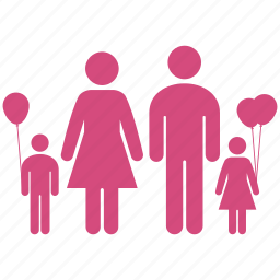 balloon, childrens, family, group, kids, kin, parents icon