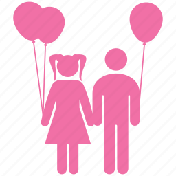 balloon, brother, children, friends, kids, play, toys icon