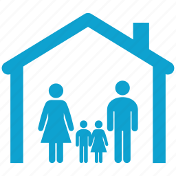 brother, childrens, family, home, house, household, sister icon