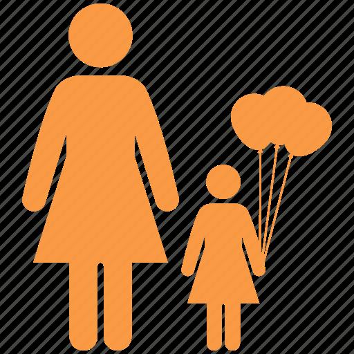 balloons, children, enhance, family, father, girl icon