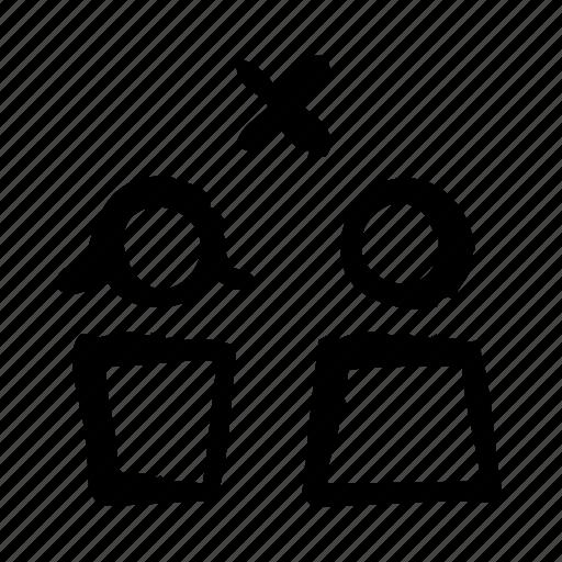 couple, divorce, family, justice, law, legislation icon