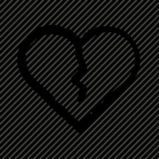 broken, divorce, family, heart, justice, law, legislation icon