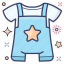 baby clothe, baby dress, baby outfit, baby romper, romper icon