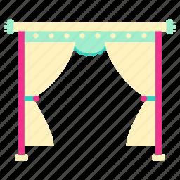 drape, drape icon, home, house, living, room icon