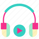 earphone, home, house, living, music, room icon