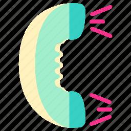 call, home, house, hp, living, room, telephone icon