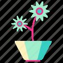 family, home, living, plants, pot, room icon