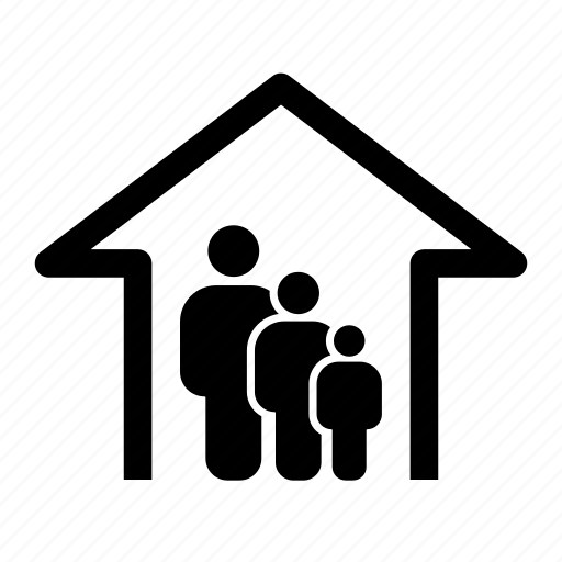 apartment, family, home, household, parents, property, relatives icon