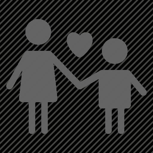 children, family, mother, parent icon