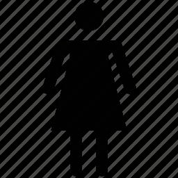 familiar, female, girl, human, silhouettes, wife, woman icon