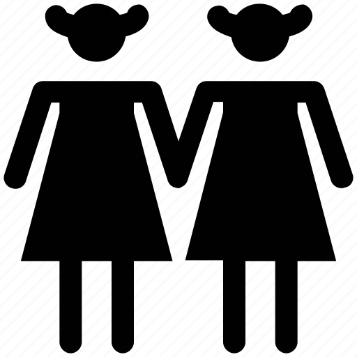 female couple, females, human, people, silhouettes, two sisters icon
