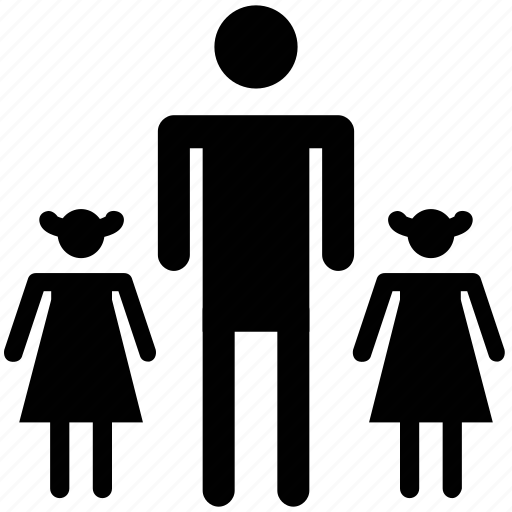 child, daughter, familiar, family, kid, man, people, standing icon